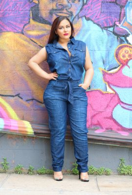 TAKE FLIGHT DENIM JUMPSUIT (FUNSIZE)