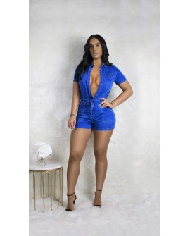 DYNAMIC DENIM ROMPER