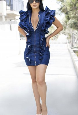 DAZZLING DENIM DRESS
