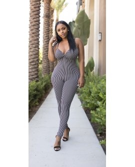STRIPE IT JUMPSUIT