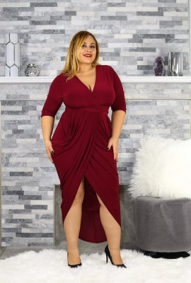 FASHION V DRESS (XL-3XFUNSIZE)