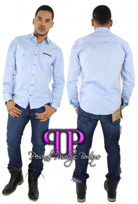 ALL ABOUT ME BUTTON UP SHIRT