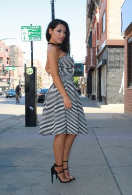 STRIPE ACTION DRESS