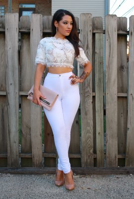 MY FAVORITE DENIM HIGH WAIST WHITE