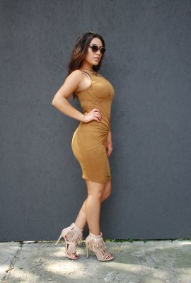 SMOOTH SUEDE DRESS