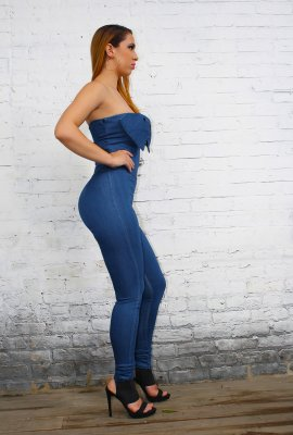 FRESH & COOL DENIM JUMPSUIT