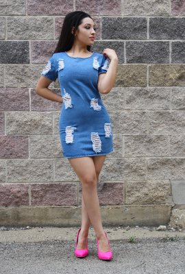 MARS DENIM DRESS
