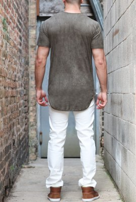SUEDE LONG T-SHIRT