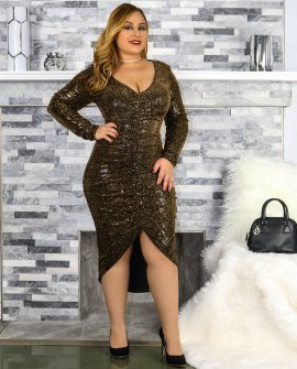 CURVES SEQUINS DRESS (XL-3X)