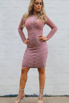 DOUBLE VEE BANDAGE DRESS