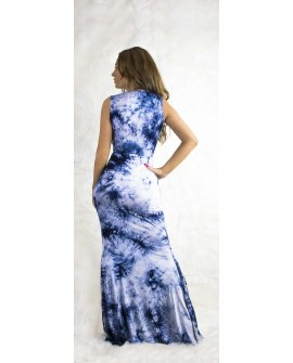 BLUE WATER MAXI DRESS
