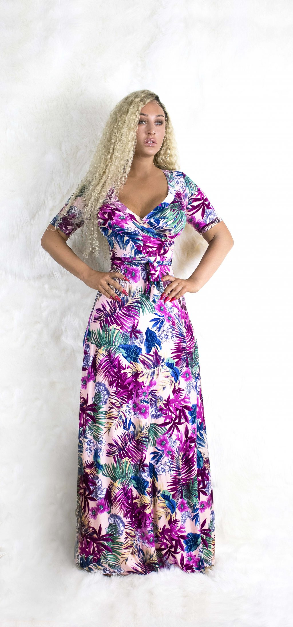 PURPLE SPRINGS MAXI DRESS