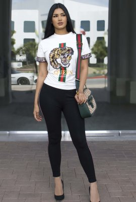 FASHION INSPIRED TIGER TOP