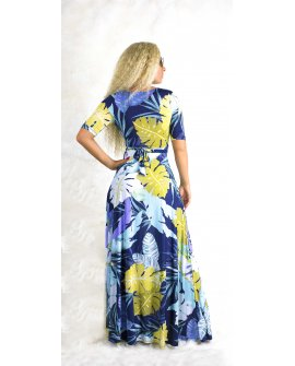BLUE FLOWERS MAXI DRESS