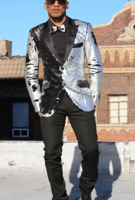 NEW FLAVOR MEN SEQUINS BLAZER