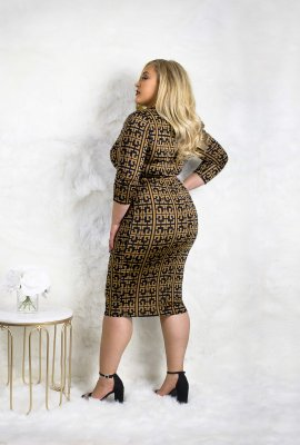 ULTIMATE CHAIN DRESS (CURVY SIZE XL-3X)