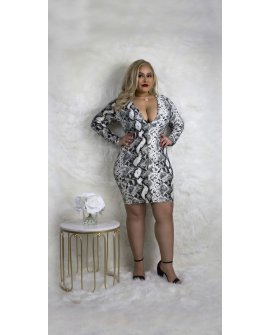 ULTIMATE SNAKESKIN DRESS  (CURVY SIZE XL-3X)