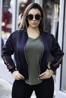 RUNNING THINGS BOMBER JACKET