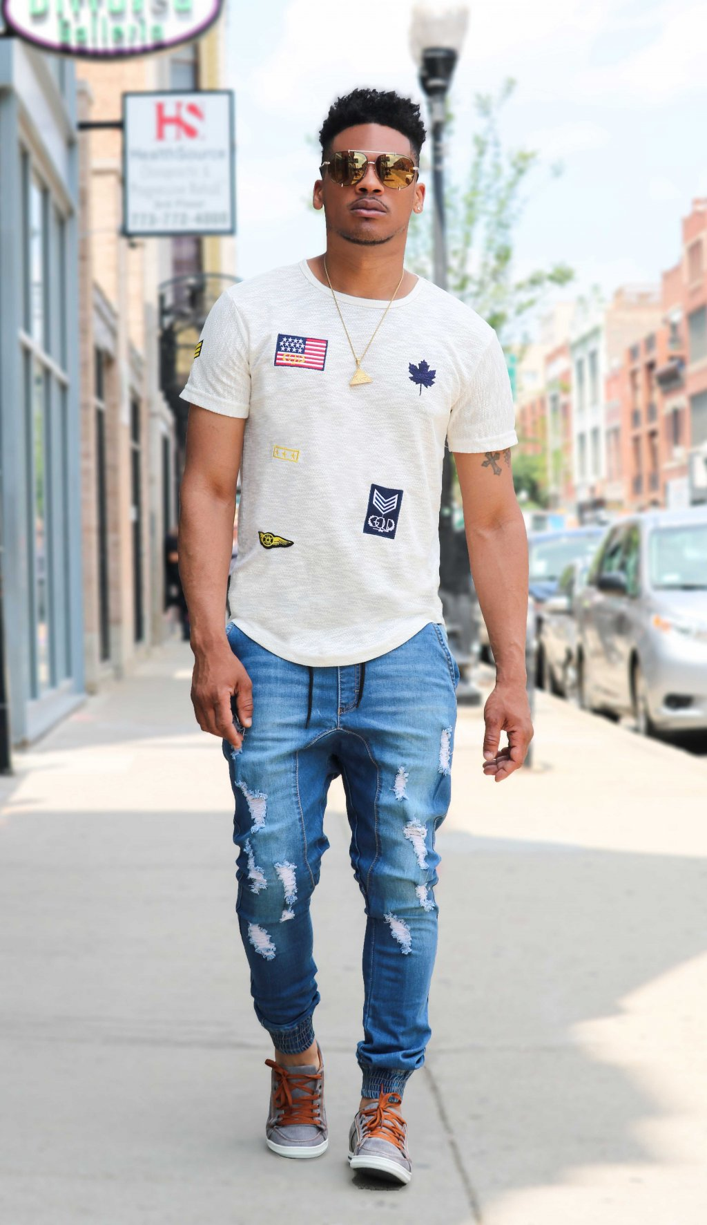 MAIN STREAM DENIM JOGGERS