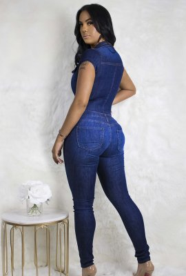 SEXY DENIM JUMPSUIT
