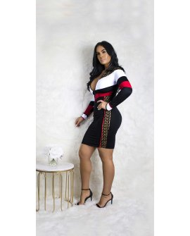 I COME TO WIN DRESS (CURVY SIZE XL-3X)