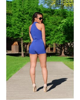 STAY IN LINE ROMPER (2 COLORS)